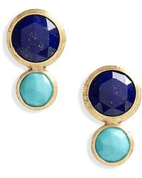 Marco Bicego - Jaipur Lapis & Turquoise Stud Earrings - Lyst