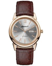 INGERSOLL WATCHES - Ingersoll New Haven Automatic Leather Strap Watch - Lyst