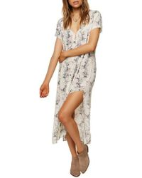 O'neill Sportswear - Amour Button Front Floral Dress - Lyst