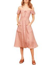 Reformation - Francis Prairie A-line Dress - Lyst