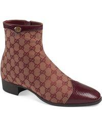 3495fe487760 Gucci - Plata Zip Boot - Lyst