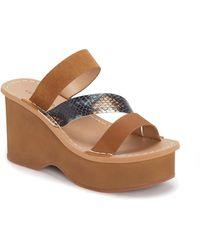 Lucky Brand - Mimya Platform Wedge Slide Sandal - Lyst