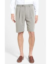 Cutter & Buck - Double Pleated Microfiber Twill Shorts - Lyst