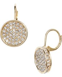 Vince Camuto - Crystal Glitter Earrings - Lyst