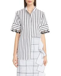 Victoria, Victoria Beckham | Laced Sleeve Shirt | Lyst