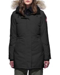 Canada Goose - Victoria Fusion Fit Down Parka With Genuine Coyote Fur Trim - Lyst