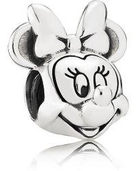 PANDORA - Disney Minnie Mouse Portrait Charm - Lyst