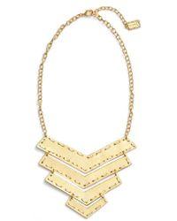 Karine Sultan - Chevron Pendant Necklace - Lyst