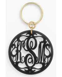 Moon & Lola - Personalized Monogram Key Chain - Lyst
