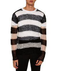 TOPMAN - Stripe Classic Fit Sweater - Lyst