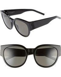 Saint Laurent - Sl M19 54mm Cat Eye Sunglasses - Lyst