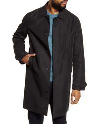 TOPMAN Fred Classic Fit Twill Car Coat - Black