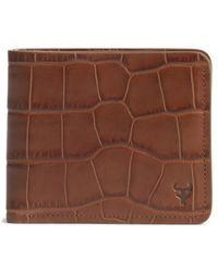 Trask - 'jackson' Slimfold Embossed Leather Wallet - Lyst