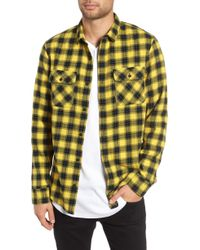 The Rail - Plaid Flannel Shirt - Lyst
