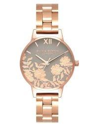 Olivia Burton - Lace Detail Bracelet Watch - Lyst