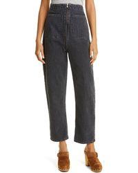 Rachel Comey Barrie High Waist Flare Leg Jeans - Black