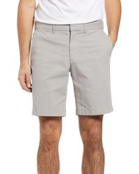 Nordstrom Slim Fit Coolmax Flat Front Performance Chino Shorts - Grey