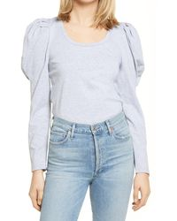 English Factory - Pleated Puff Sleeve Top - Lyst