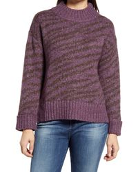 Wit & Wisdom Zebra Jacquard Sweater - Purple