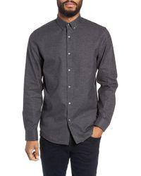 Calibrate - Slim Fit Mini Collar Melange Sport Shirt - Lyst