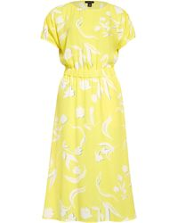 Halogen Halogen Ruched Sleeve Midi Dress - Yellow
