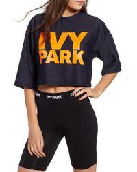 Ivy Park - Mesh Crop Tee - Lyst