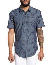 BOSS - Robb Trim Fit Floral Short Sleeve Sport Shirt - Lyst