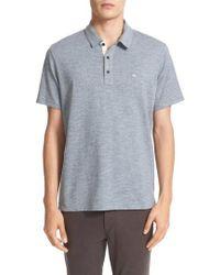 Rag & Bone - Standard Issue Regular Fit Slub Cotton Polo - Lyst