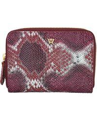 Kelly Wynne Money Maker Leather Zip Wallet - Multicolor