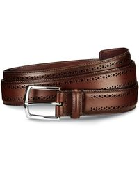 Allen Edmonds - Manistee Brogue Leather Belt - Lyst