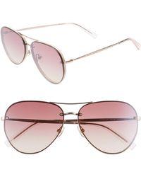 Rebecca Minkoff - Gloria2 59mm Aviator Sunglasses - Lyst