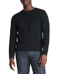 Rag & Bone Trent Wool Crew Classic Fit Midweight Sweater - Black