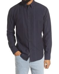 Rag & Bone Fit 2 Tomlin Herringbone Button-down Shirt - Blue
