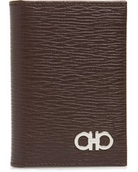 Ferragamo - Revival Leather Card Case - Lyst