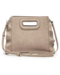 Sole Society - Faux Leather Satchel - Lyst