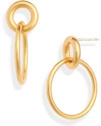 Madewell - Double Hoop Earrings - Lyst
