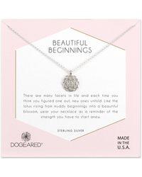 Dogeared - Beautiful Beginnings Lotus Pendant Necklace - Lyst