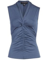 Emporio Armani | Ruched Front Tank Top | Lyst