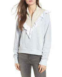 Wildfox   Prima Ruffle Warm-up Pullover   Lyst