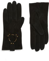 Frye Classic Lambskin Suede Gloves - Brown