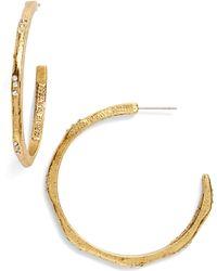 Karine Sultan - Hoop Earrings - Lyst