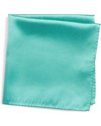 Nordstrom Solid Silk Pocket Square - Black