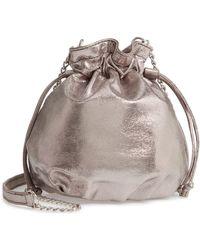 Chelsea28 - Phoebe Mini Metallic Bucket Bag - Metallic - Lyst