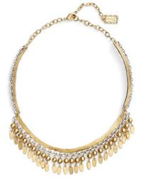Karine Sultan | Fringe Collar Necklace | Lyst