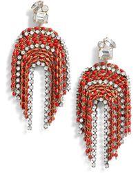 Serefina - Fringe Statement Earrings - Lyst