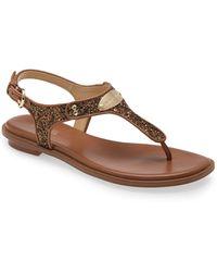 MICHAEL Michael Kors - 'plate' Thong Sandal - Lyst