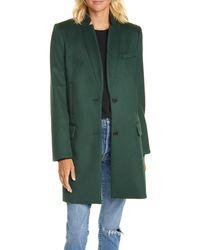 Veronica Beard Wool Blend Car Coat - Green