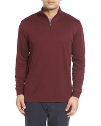 Cutter & Buck - 'belfair' Quarter Zip Pima Cotton Pullover - Lyst