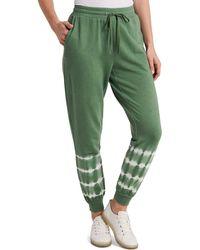 Vince Camuto Tie Dye Cotton Blend Sweatpants - Green