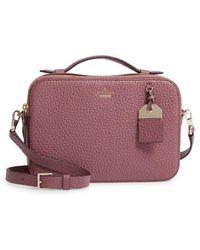 Kate Spade - Carter Street - Large Juliet Leather Crossbody Bag - Purple - Lyst